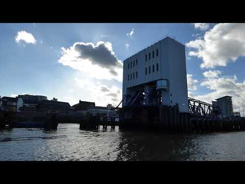 Detailed look at the Woolwich ferry. (Foot Passenger)