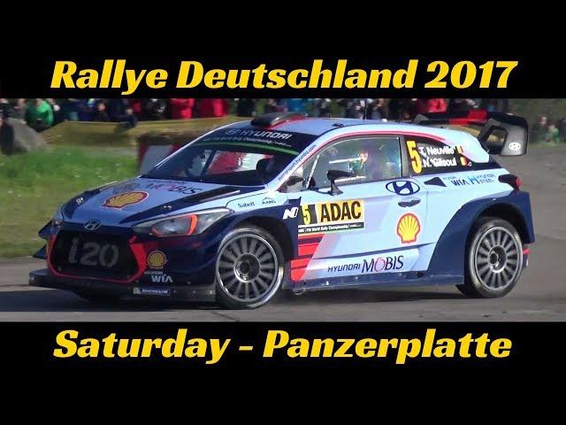 WRC ADAC Rallye Deutschland 2017 - Saturday/Samstag Panzerplatte WRC highlights