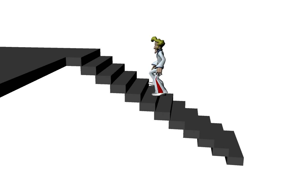 climbing stairs motion youtube