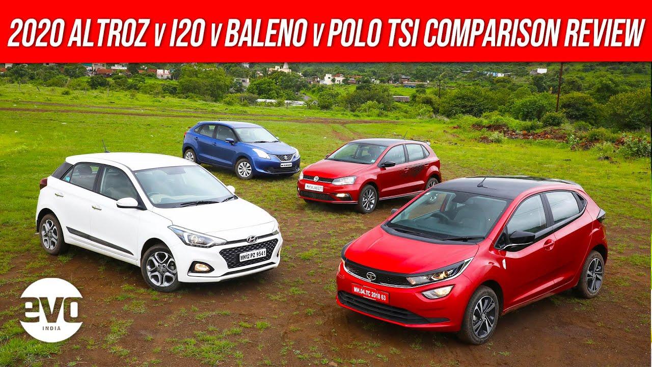 2020 Tata Altroz vs Hyundai i20 vs Maruti Suzuki Baleno vs VW Polo TSI Comparison Review | evo India