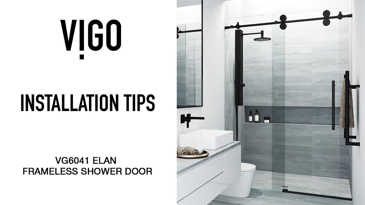 VIGO VG6041 Elan Frameless Shower Door   Installation Tips   YouTube