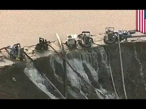 Major Houston dams begin overspilling as Storm Harvey pushes reservoir past capacity , engineering