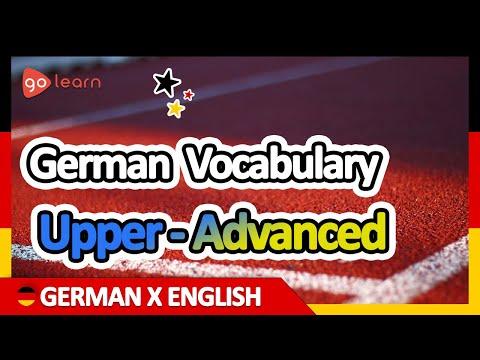 Learn German | Part 16: German Vocabulary Upper-advanced | Goleaen