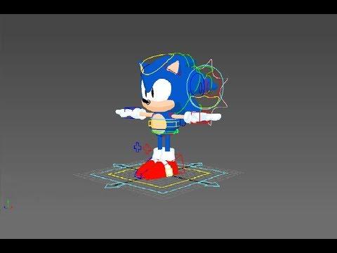 Sonic Mania Model, Rig, Animation | Autodesk Maya Rig Animation [Sonic Rig]