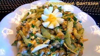 Весенний Легкий Салатик на Скорую руку! Простые и быстрые салаты на каждый день