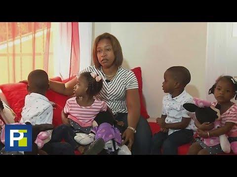La historia de esta madre dominicana que lucha por sacar adelante a sus quintillizos