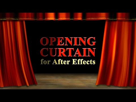 Realistic Opening Curtain in After Effects