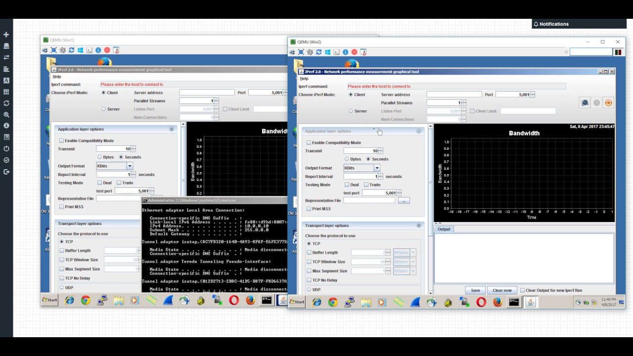 [EVE-NG] iPerf - LINK TEST BW