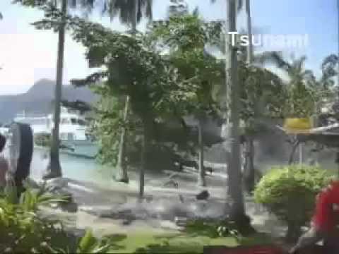 Любительская съемка цунами