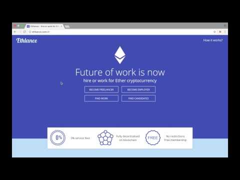 How to use Ethlance - Become Freelancer and Apply for a Job