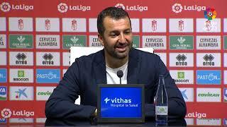 Rueda de prensa de Diego Martínez tras el Granada CF vs CD Tenerife 2 1