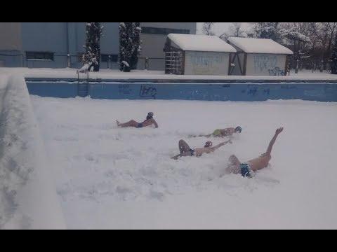 Fakty Chernivtsi Факти Чернівці: World Swimming Championship in the snow 2018