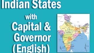 Indian states with their capital Chief Ministers and their Governor in English   Static GK