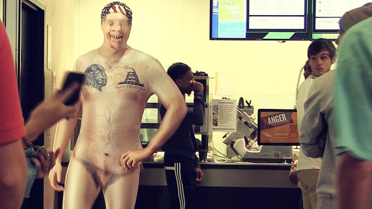 College nude pranks