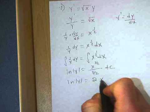 Solving differential equations involving natural logs - YouTube