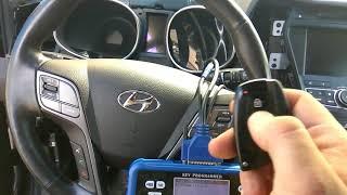 Программирование ключей после угона на автомобиль Hyunday SantaFe прибором skp 900. Key programming
