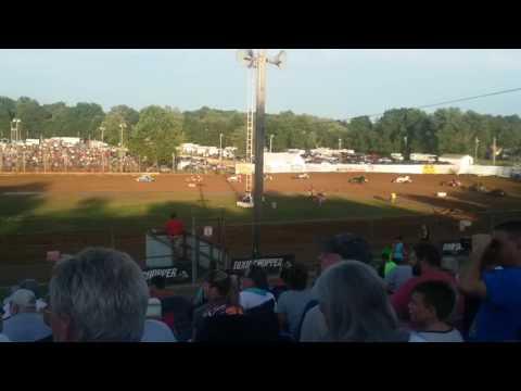 USAC Sprint Car Heat 1 Part 1/2  Lincoln Park Speedway