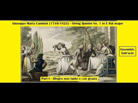 Giuseppe Maria Cambini (1746-1825) - String Quintet Nº 1 in E flat major - Part I