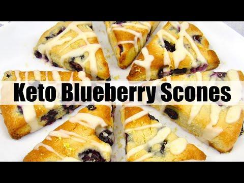 Keto Blueberry Lemon Scones Gluten-Free
