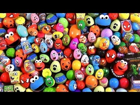 Huge 105 Huevos Sorpresa Pocoyo PeppaPig MonsterHigh Disney Frozen Play-Dough Cookie Monster Cars