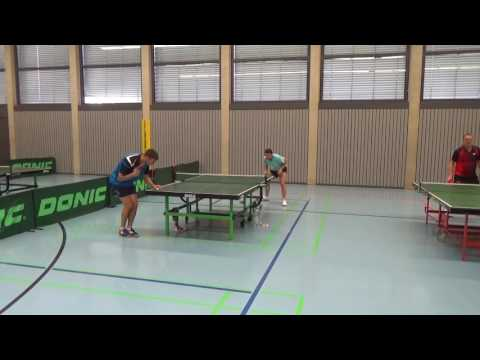 Andre Scheer SB Versbach Rueckhanddefense mit Noppen Tischtennis Commerzbank Cup 2  Zell am Main 201