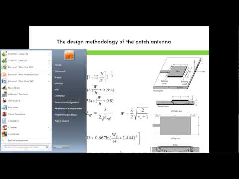 the design methodology of the patch antenna