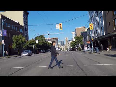 East Hastings Street - Vancouver BC Canada - Driving to Downtown Area