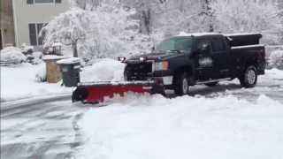 8' Western Snow Plow With Buyers Pro Wings Plowing