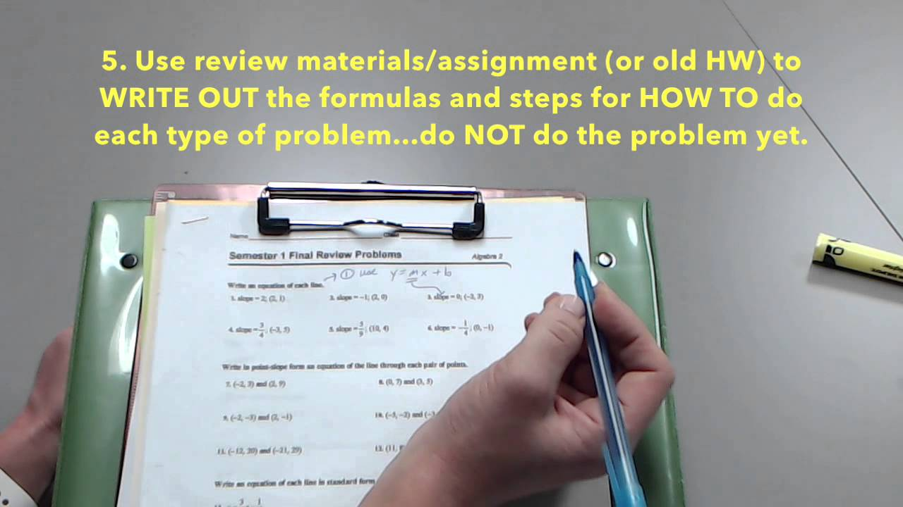 How to Make a Math Study Guide - YouTube