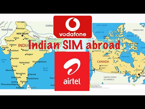 Indian SIM Abroad || How To Use Indian SIM Card In Canada Or US
