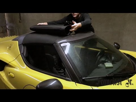 HOW TO REMOVE REPLACE THE ROOF OF AN ALFA ROMEO C SPIDER - Alfa romeo spider soft top