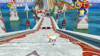 Sonic Heroes - Team Dark use the chaos emeralds