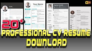 Resume Download #professional resume template download. #word document.doc