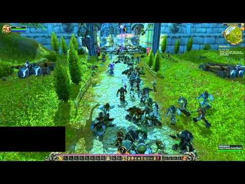 Hundreds of Tauren march on Stormwind - Legendary  Party 2/2/2011