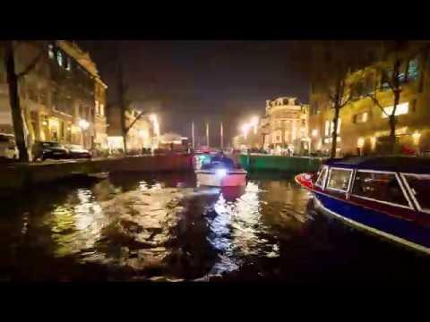 Amsterdam night canaltour hyperlapse 4K (LQ)