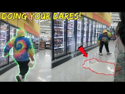 DOING YOUR DARES IN WALMART! *FAN EDITION*