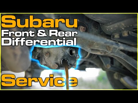 Subaru Differential Service / Fluid Change