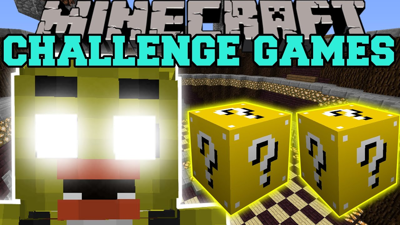 Chica challenge games lucky block mod modded mini game youtube