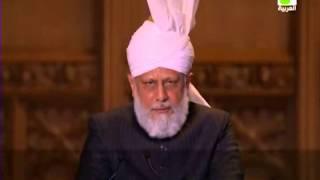 خطاب حضرة امير المؤمنين مرزا مسرور أحمد أيده الله بنصره العزيز في مؤتمر الأديان العالمي في لندن