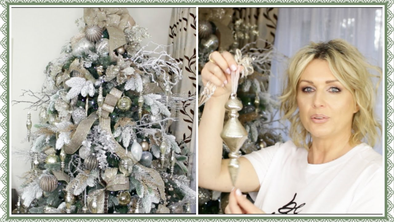 how to decorate a christmas tree with ribbon winter wonderland gold and silver youtube