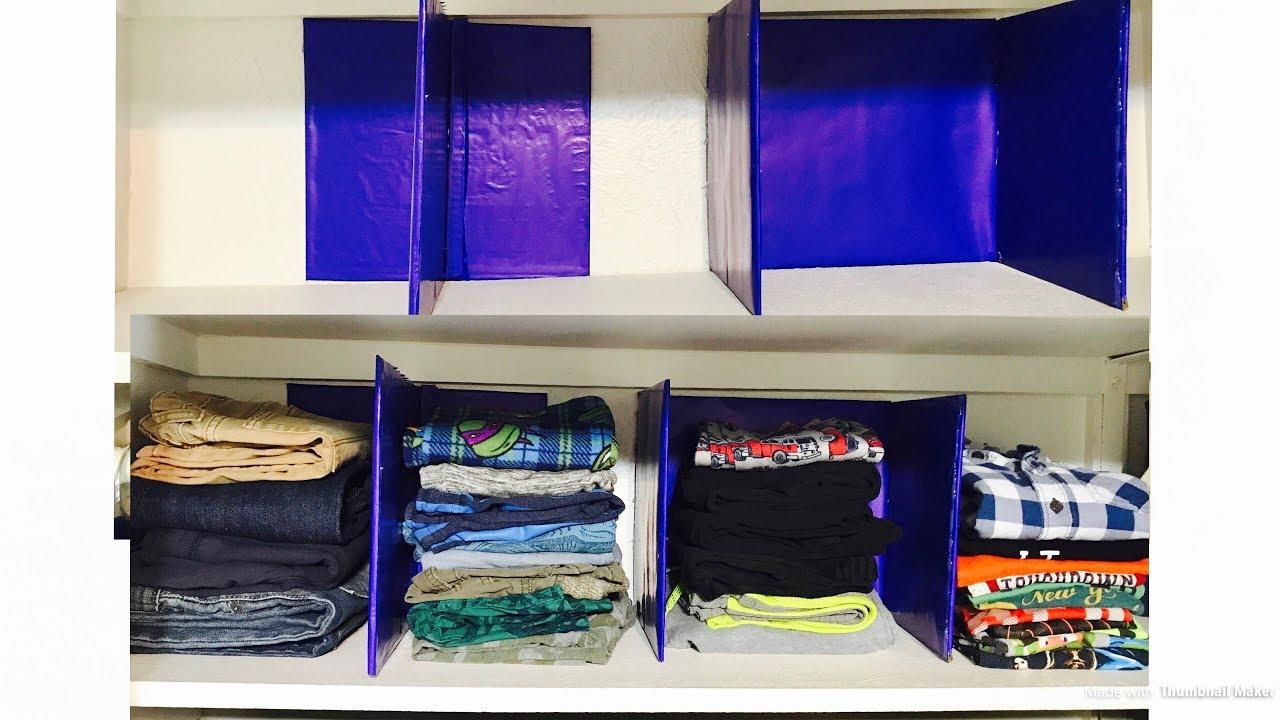How To Make Shelf Divider Closet Organization Diy From
