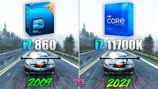 i7 1st 860 vs i7 11th 11700K - 12 Years Difference