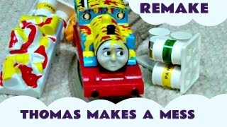 Thomas And Friends Remake THOMAS MAKES A MESS & Trackmaster Diesel Calling All Engines kids Toy
