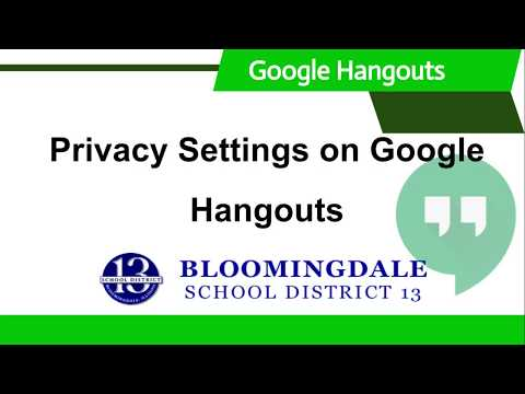 Google Hangouts: Privacy Settings