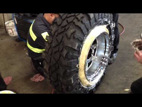 Mounting wide wheel on narrow tire