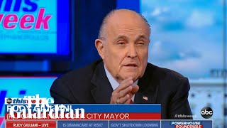 'They're a joke': Rudy Giuliani steps up attack on Mueller