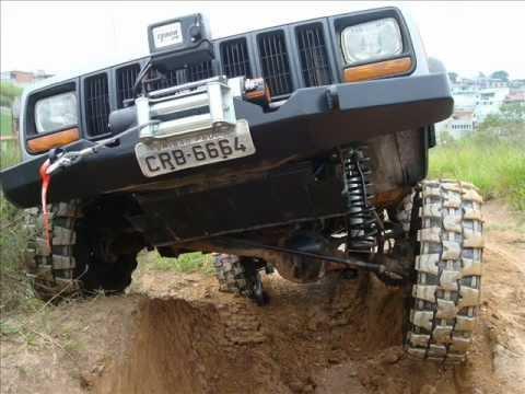 Lifted Jeep Cherokee >> XJ LIFT ESTREIA, Cherokee Sport - YouTube