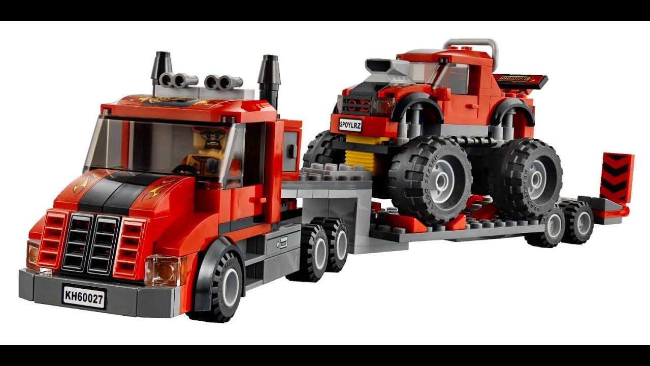 Lego city camion de transport monster truck jouet pour les enfants youtube - Lego city police camion ...