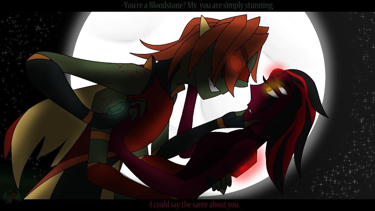 Vampire Dragon - Bloodstone Gem Oc Fusion Speedpaint