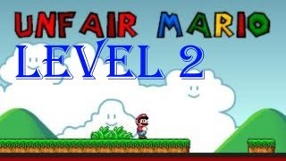 Unfair Mario all levels walkthrough/playthrough - Level 2